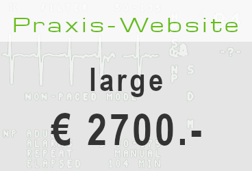 Bild: Angebot Praxis-Website large € 2700.- / Typo3-Website